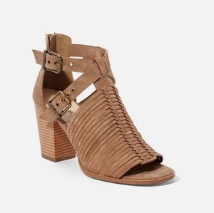 New in Box. Taupe Cage Style Sandals.